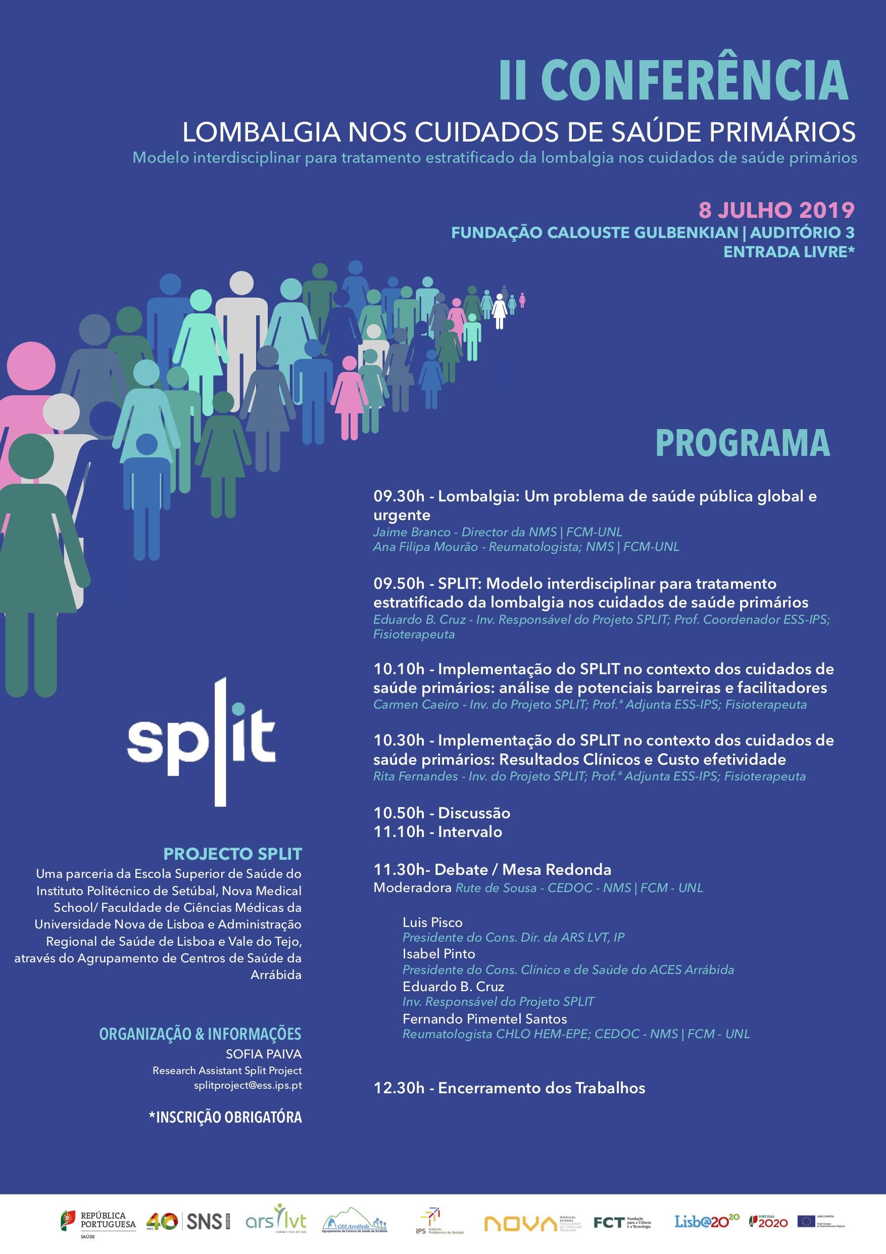 Conferência SPLIT, dia 8 Julho - ESS/IPS